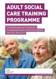 View adult social care training courses - Stockton-on-Tees Borough ...