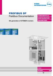 PROFIBUS DP Fieldbus Documentation - STÖBER ...