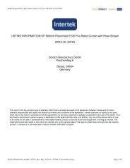 Fibershield-UL 10B Listing - Stöbich Brandschutz