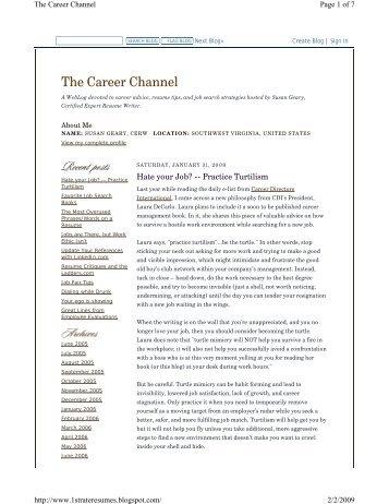 Hate Your Job? Practice Turtilism - Career Directors International
