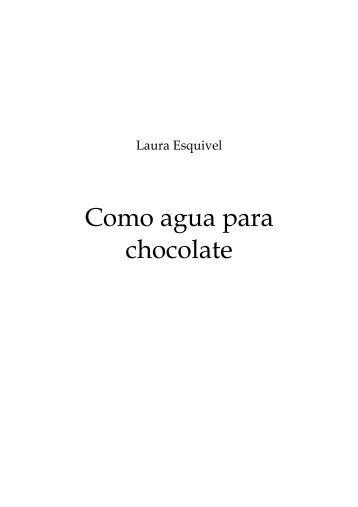 pdf como agua para chocolate