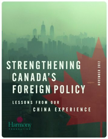 strengthening canada's foreign policy - Harmony Foundation of ...