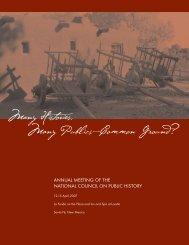 Program - National Council on Public History