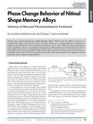 Phase Change Behavior of Nitinol Shape Memory Alloys