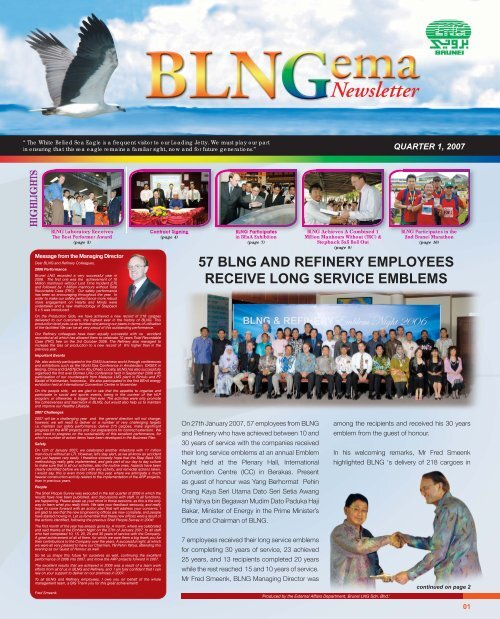 Blng Achieves A Combined 1 Million Brunei Lng Sdn Bhd