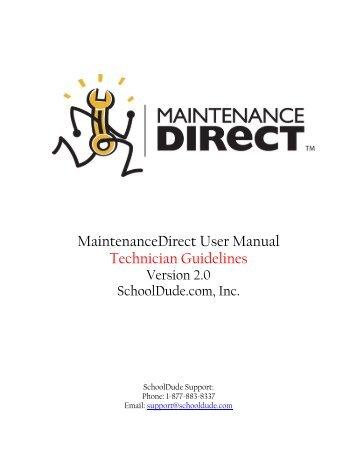Maintenance Direct Technician Tutorial - Hanover Public Schools