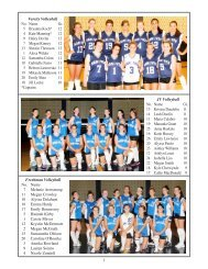 HHS Booster Fall Sports Program - Hanover Public Schools
