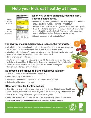 Help your kids eat healthy at home. - Springfield Public Schools