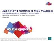 Presentation by Mr David Lim - Singapore Tourism Board
