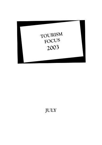 TOURISM FOCUS JULY - Singapore Tourism Board