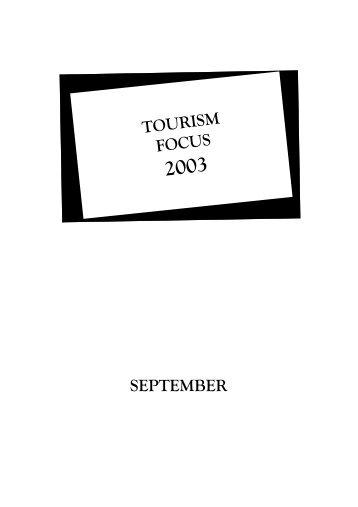 TOURISM FOCUS SEPTEMBER - Singapore Tourism Board