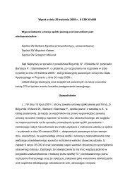 Wyrok z dnia 29 kwietnia 2009 r., II CSK 614/08 ... - E-prawnik