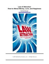 Law of Attraction How to Attract Money, Love, and Happiness