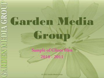 Photo Album - Garden Media Group