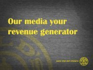 Our media your revenue generator - Gold's Gym