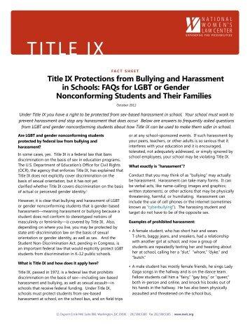 TITLE IX - National Women's Law Center