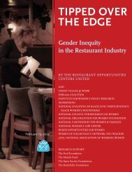 TIPPED OVER THE EDGE - Institute for Women's Policy Research