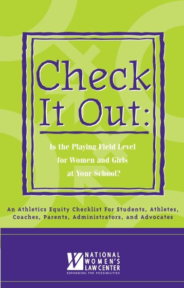Is the Playing Field Level for Women and Girls at Your School?