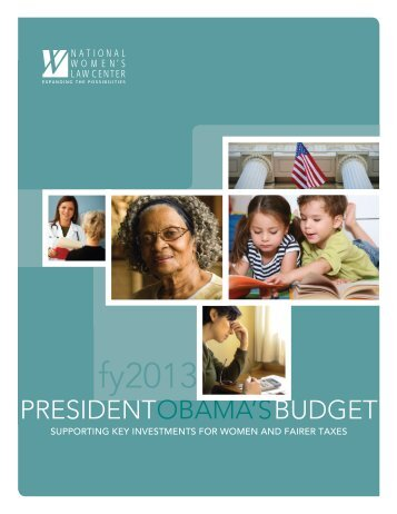 analysis of President Obama's budget - National Women's Law Center