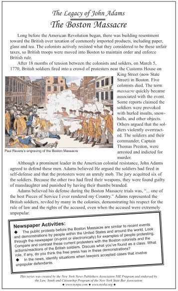 research paper boston massacre
