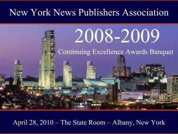 Awards Presentation - PDF - New York News Publishers Association