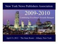 Awards Presentation - PDF - New York News Publishers Association