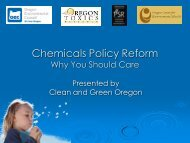 How did we get here? - Oregon Environmental Council