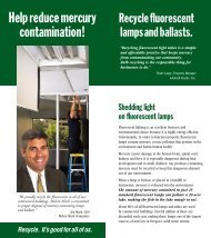 Fluorescent Lamp Recycling Brochure - Oregon Environmental ...