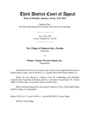 12-0190 - Third District Court of Appeal