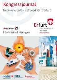 erwicon - Erfurter Wirtschaftskongress  2010 - Kongressjournal