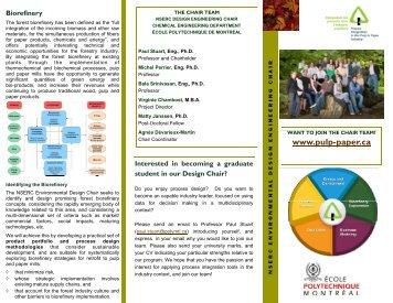 Brochure for Potential Students - École Polytechnique de Montréal