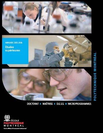 département de génie informatique - École Polytechnique de Montréal
