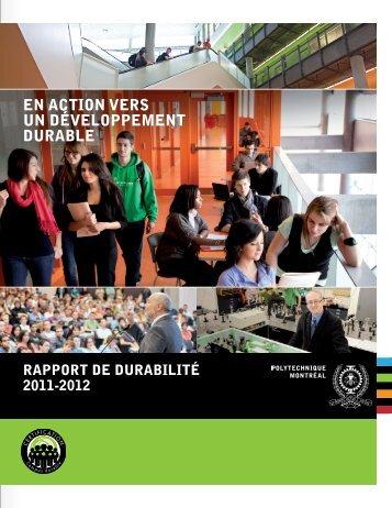 En action vErs un dévEloppEmEnt durablE - École Polytechnique de ...