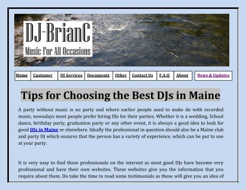Tips for Choosing the Best DJs in Maine