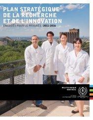 plan stratégique de la recherche et de l'innovation - École ...