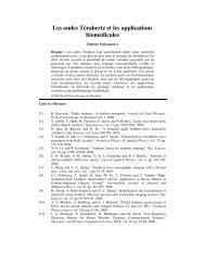 Les ondes Térahertz et les applications biomédicales - École ...