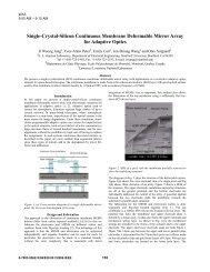 Single-Crystal-Silicon Continuous Membrane Deformable Mirror ...