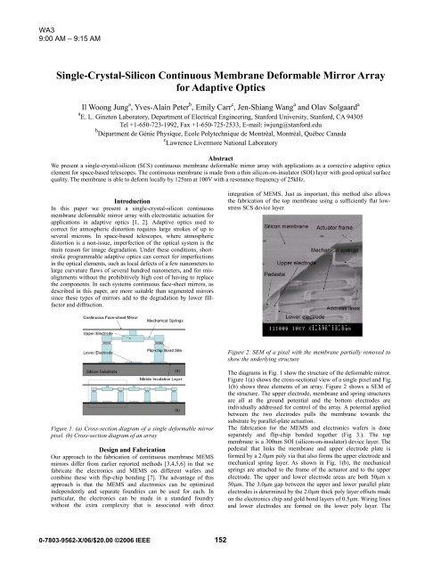 Single-Crystal-Silicon Continuous Membrane Deformable Mirror