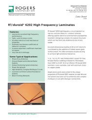 RT/duroid 6202 High Frequency Laminates