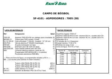 campo de béisbol sf-4101 - aspersores : 7005 (38) - Rain Bird Ibérica