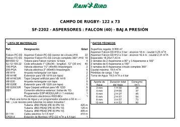 ASPERSORES : FALCON - Rain Bird Ibérica