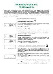 Manuales de Instrucciones - Rain Bird Ibérica
