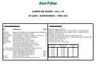 CAMPO DE RUGBY- 122 x 73 SF-2203 ... - Rain Bird Ibérica