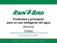 agua - Rain Bird Ibérica