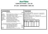 CAMPO DE FÚTBOL - 120 x 80 SF-1106 ... - Rain Bird Ibérica