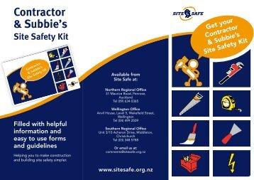 Contractor & Subbie's - Site Safe