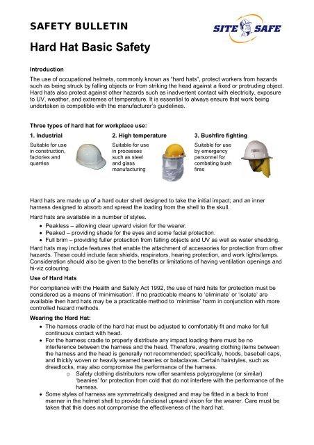 Hard Hat Basic Safety PDF - Site Safe