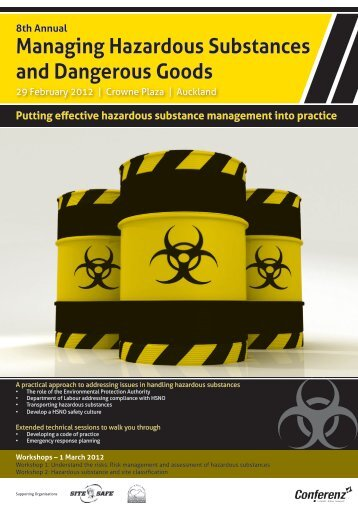 hazardous substances and dangerous good The work health and safety regulation 2011 now covers workplace hazardous  substances and dangerous goods under a single framework.