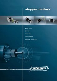 Stepper motors catalogue 2009 - STÖGRA Antriebstechnik GmbH