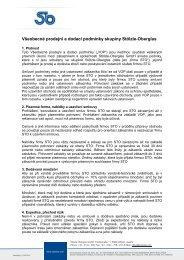 Všeobecné prodejní a dodací podmínky skupiny Stölzle-Oberglas